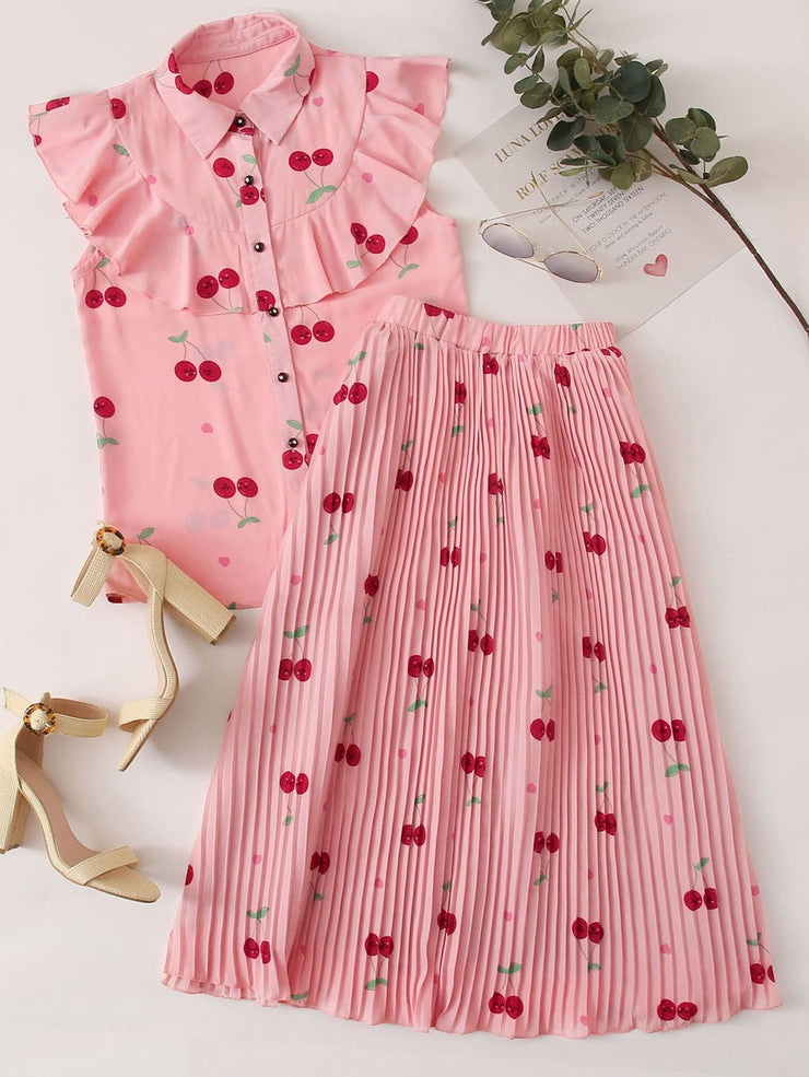 Cherry On Top Skirt Set