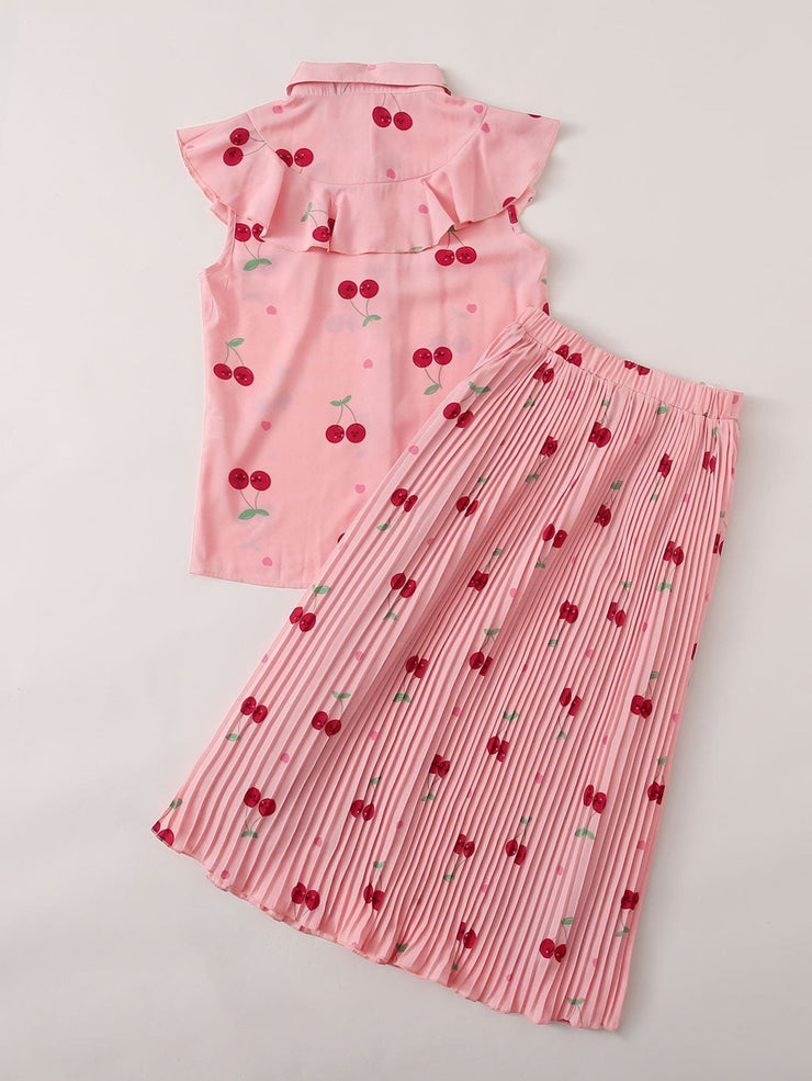 PREORDER-Cherry On Top Skirt Set
