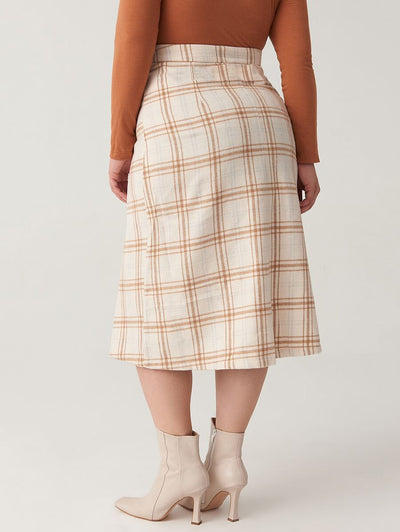 Curvy Preppy Plaid Skirt
