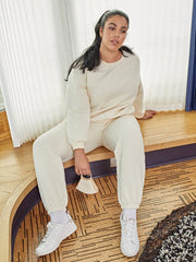 Curvy Klara Quilted Pants Set with Mask