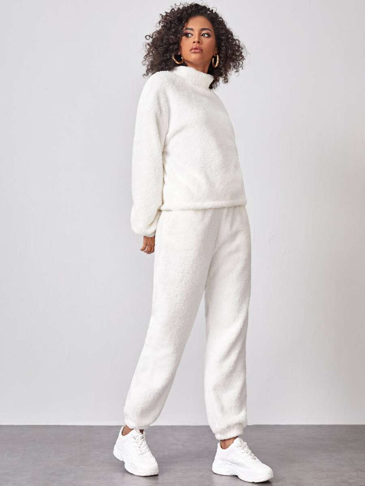 Teddy Fur 2 Piece Pant Set