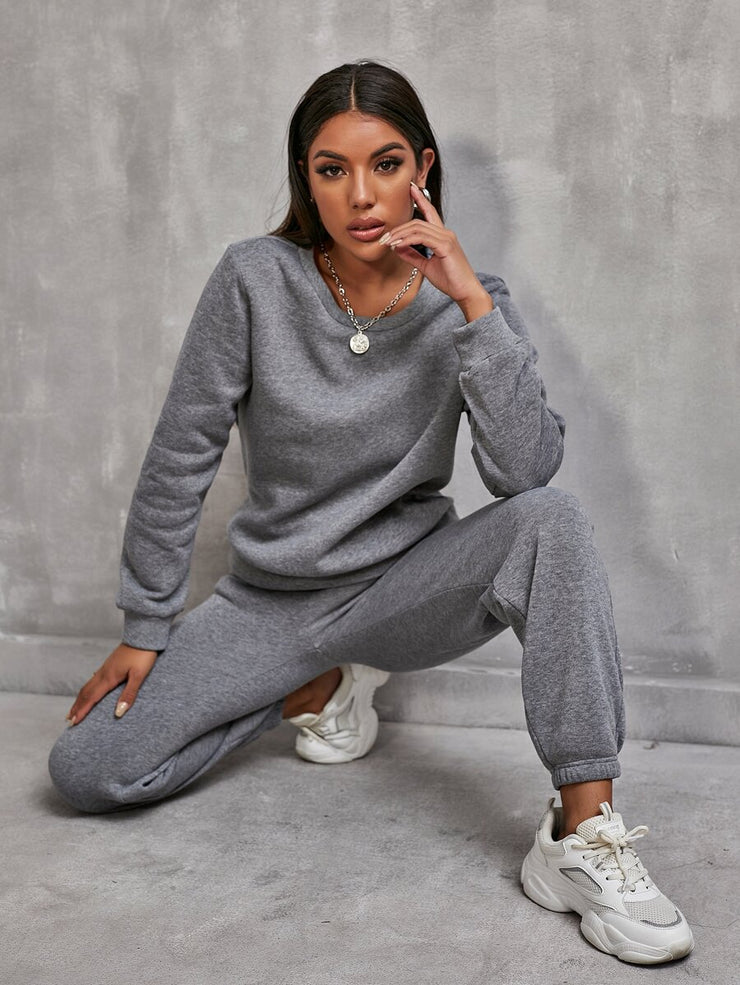 Road to Cozy Two-Piece Jogger Pant Set