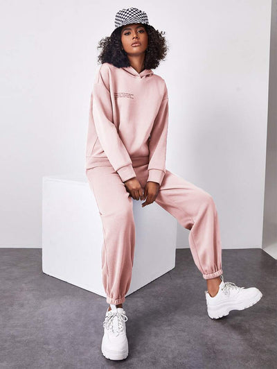 Crisp Morning Two-Piece Jogger Pant Set
