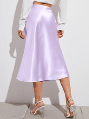 Feeling Cute Satin Midi Skirt