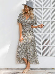 All Yours Floral Wrap Dress