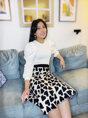 Dear Heart Knit Midi Skirt