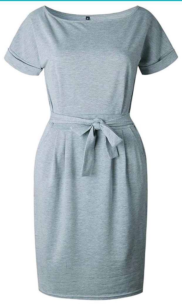 Throw and go Belted Dress