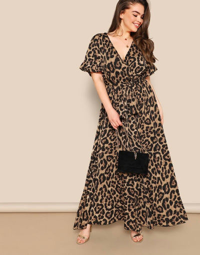 PREORDER Plus Wild Print Maxi Dress