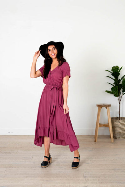 Farah Wrap Midi Dress
