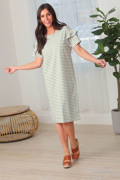 Erina Striped Shift Dress