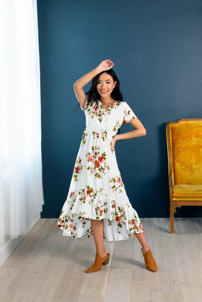 Layers of Spring Wrap Floral Dress