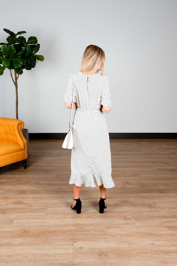 Always There Polka Dots Wrap Dress