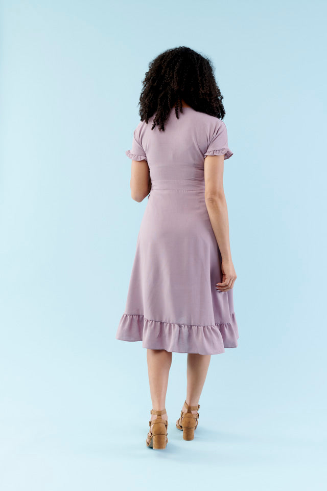 Sweet Lilac Dolman Midi Dress