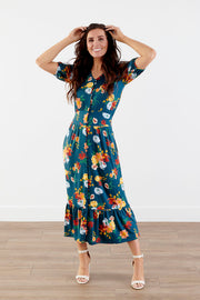 All Year Long Floral Midi Dress