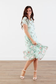 Melany Floral Tulle MIdi Dress