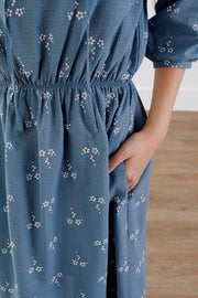 Too Cute Floral Midi Dress