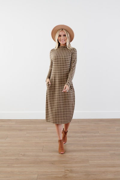 Love Cocoon Checkered Dress