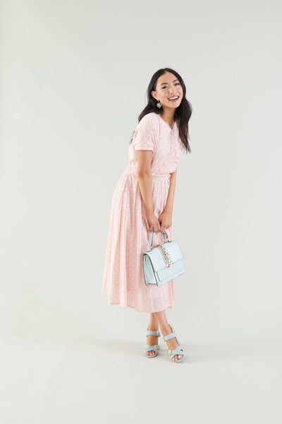 Daytime Delight Pink Polka Dot Dress