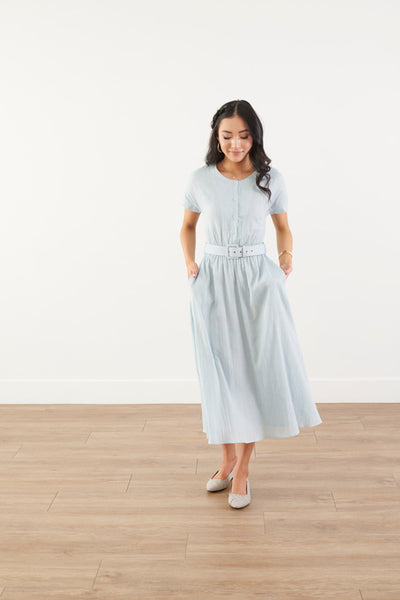 My Day Sky Blue Midi Dress