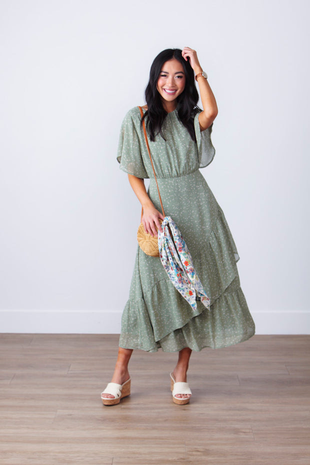 Remarkable Tiered Midi Dress