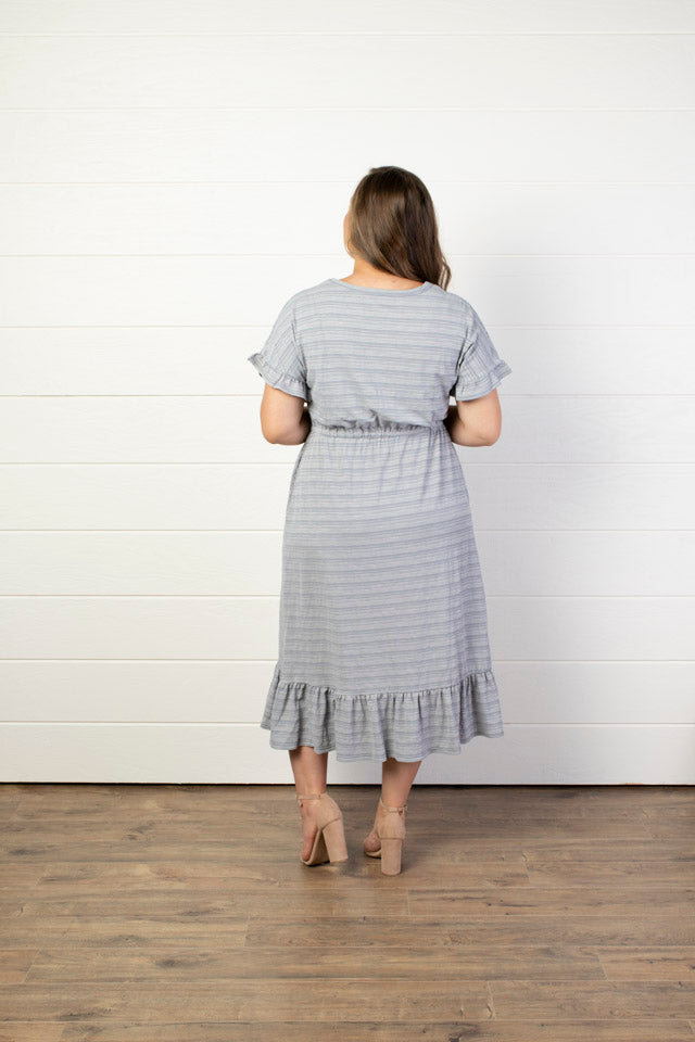 Comfort Striped Midi Dress