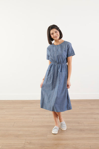 Darling Denim Midi Dress
