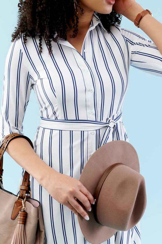 Carla Striped Shirt Dress