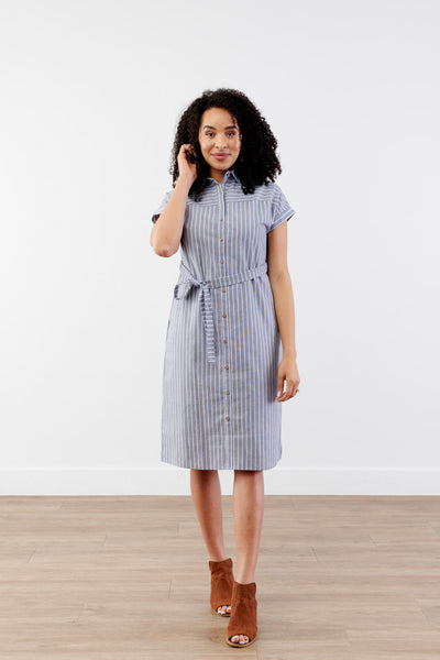 Better Together Shirt Striped Dress