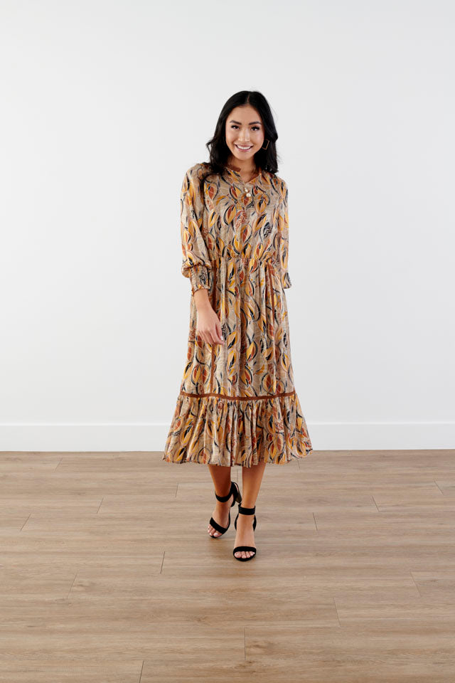 BeLeaf Smocking Midi Dress