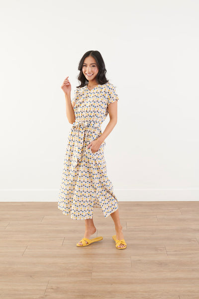 Hexagon Confetti Midi Dress