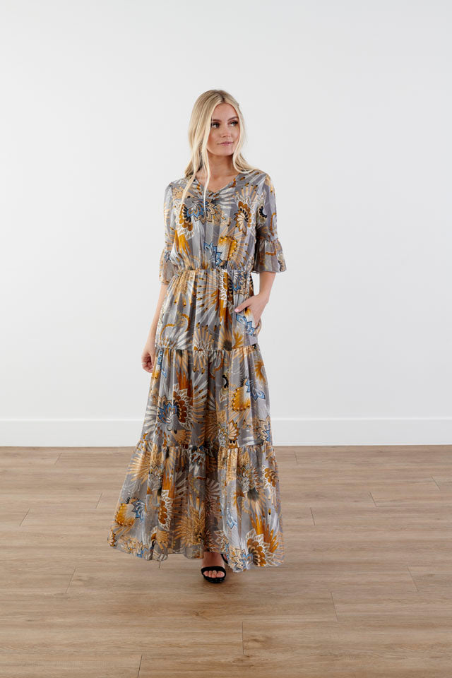 Here To Charm Tiered Maxi Dress