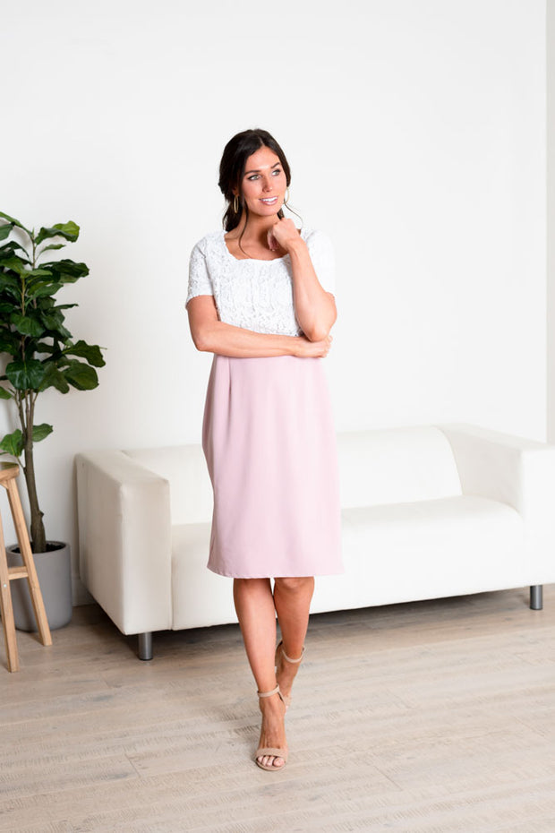 Eternal Bodice Lace Midi Dress