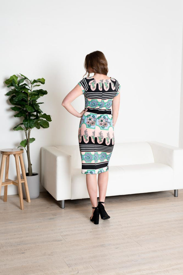 Abstract Vibes Pencil Dress