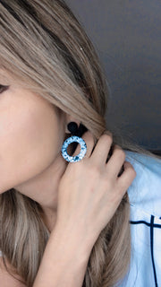 Dalmatian Round  Earrings