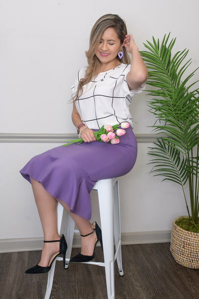 Simply Beautiful Mermaid Skirt-in Lilac