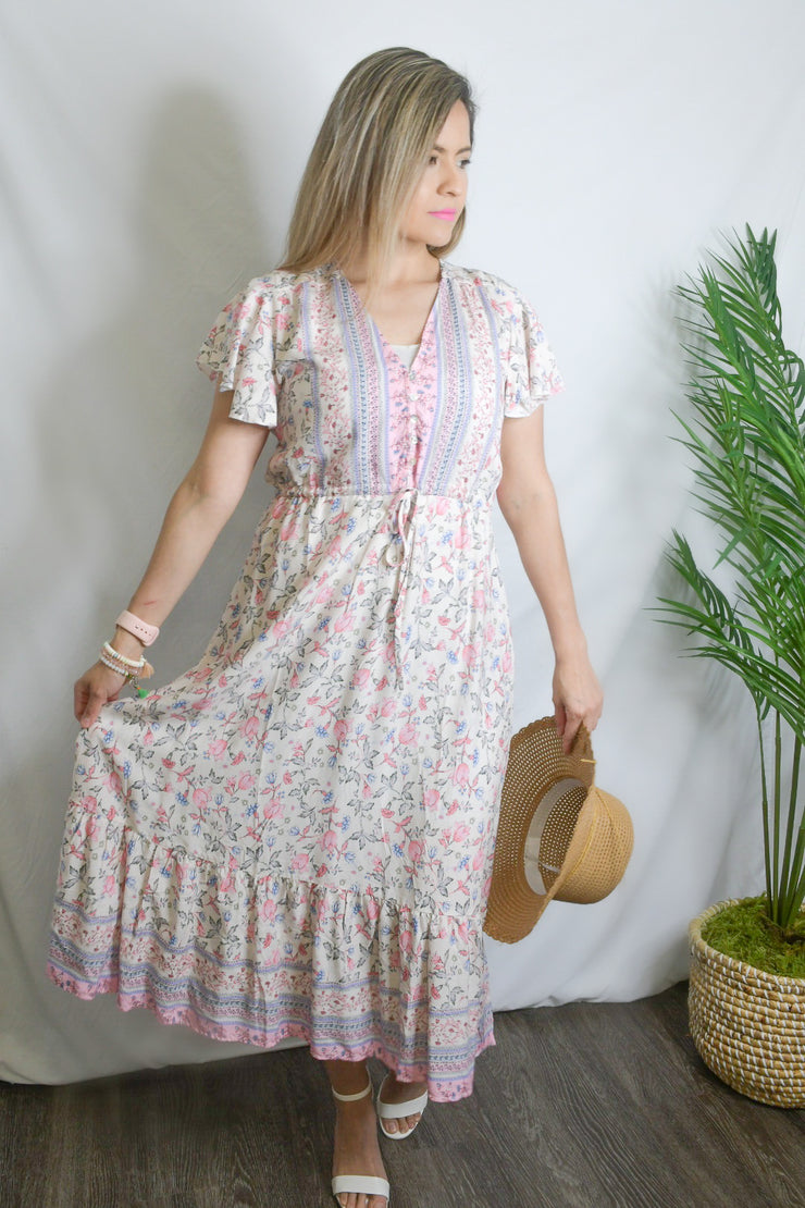 Candy Land Pink Floral Dress
