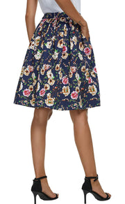 Here to Stay Floral Midi Skirt