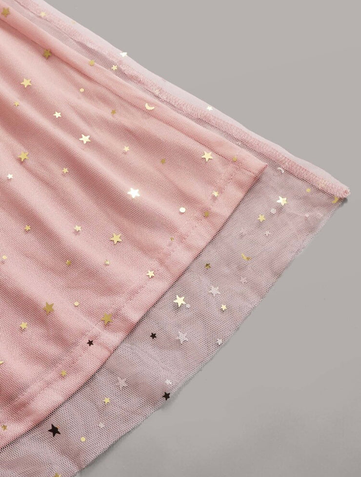 Glittery Stars In the Sky Skirt Set
