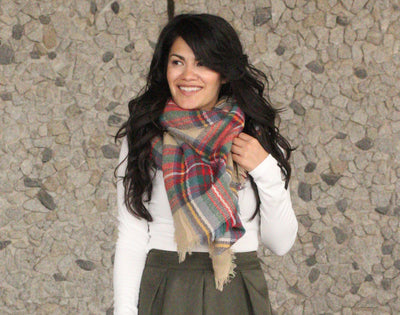 Cozy Days Multicolor Plaid Scarf