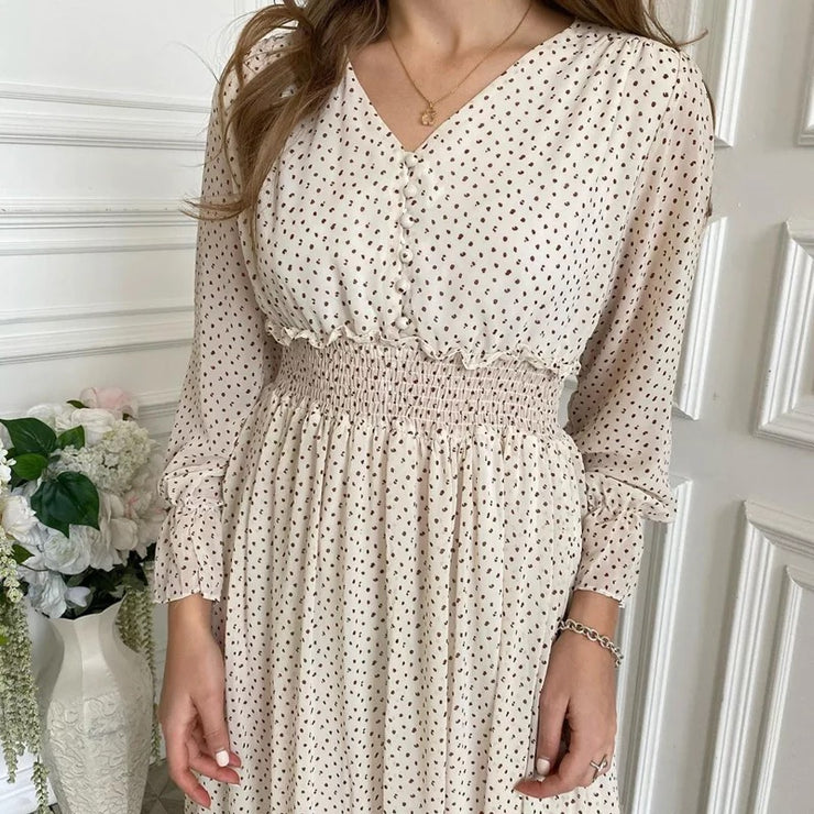 Sweet Story Smocked Dots Dress