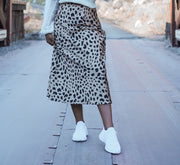 Icon Leopard Midi Skirt