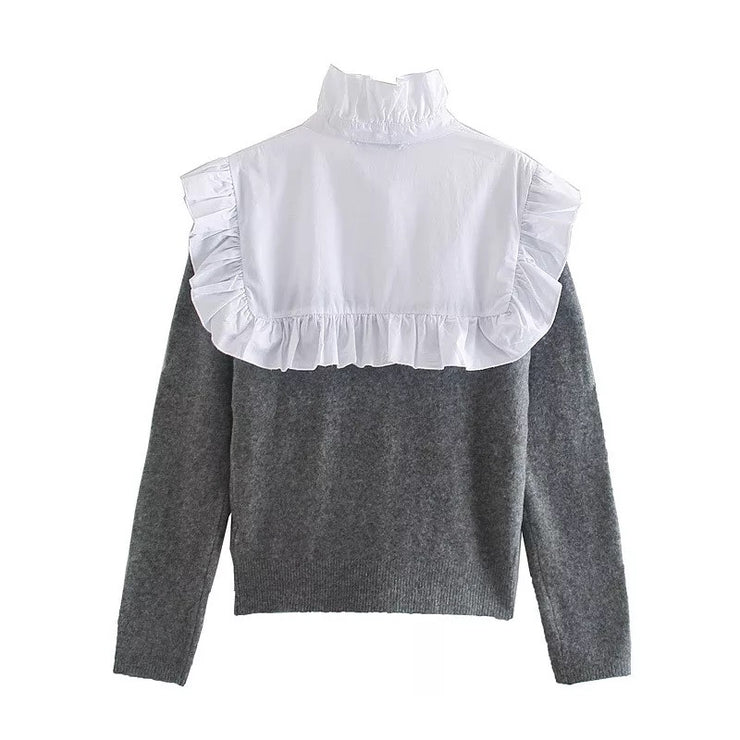 Trendy Times Ruffled Sweater Top