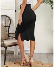 Chic Tie Front Pencil Skirt