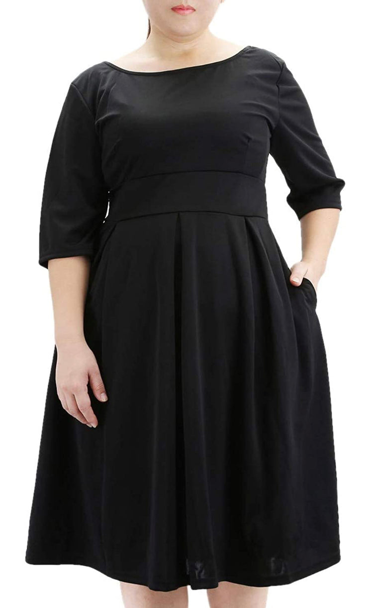 Curvy Back To Basics Midi Dress