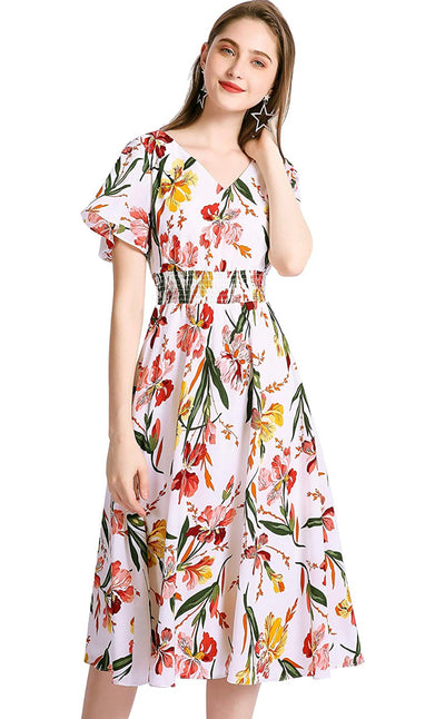 Sun Kissed Tropical Midi Dress