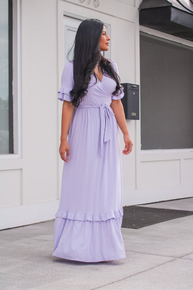 Sweet Babe Lilac Maxi Dress