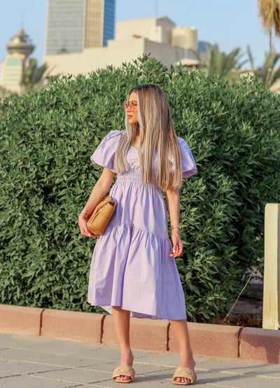 Influence Puff Tiered Dress