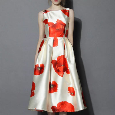 Bed of Poppies/ Flowers Midi Dress