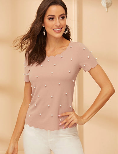 Classy and Sassy Pearly Top