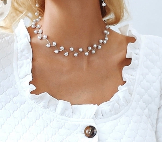 Simply Beautiful Faux Pearl Necklace